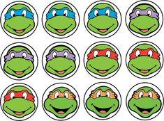 Ninja Turtles clipart face #6