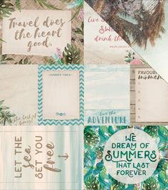 "Island Escape Double - Sided Cardstock 12""X12"" - Kahakai"