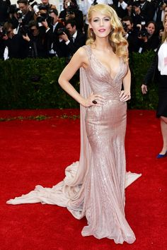 Met Ball 2014 Blake Lively wore a custom-made Gucci Première gown.