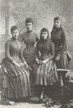 Alexandra with her daughters
