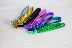 DIY: glitter hair ties