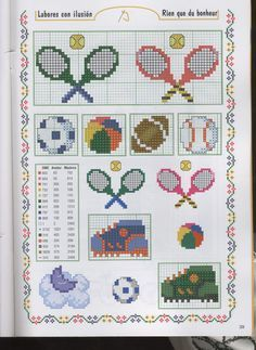 cross stitch pattern badminton - Google zoeken