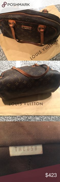 Authentic LV Purse Authentic LV Vintage PM Montorgueil Purse. No Trades and No Bundles. Code TH0058. Width 12.5 Height 7.8 Depth 6.  Comes with Dust Bag. Only issue inside pocket has some peeling.  Bag in good condition. Louis Vuitton Bags Satchels