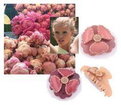 """""""Flower barrette rhinestone France"""" by shambalaparadise-21 ❤ liked on Polyvore"""