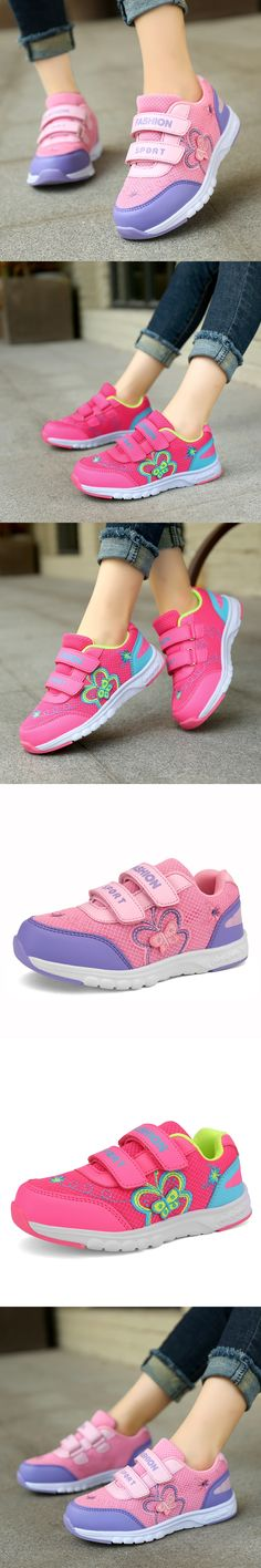 2017 Children Casual Shoes Girls Embroidery pattern Shoes Kids Fashion Sneakers Boys Casual Sport Shoes Child Butterfly Shoes