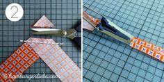 Hamburger Liebe: Tutorial Tuesday: Schrägband selbermachen oder wie produziere ich mal schnell 27 Meter Wimpelkette ohne ins Schwitzen zu geraten