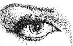 Eye in pointillism