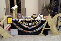 Decorations | Kappa Alpha Theta | Recruitment table #crafty #sororitysugar