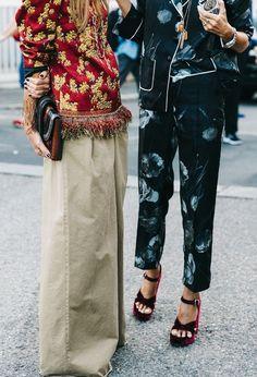 Street style during Milan Fashion Week.