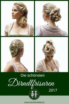 The most beautiful dirndl hairstyles in Gerhard kopfer. Eative director of bundy & bundy gives tips for your hairstyle to the dirndl for short hair. Fancy Hairstyles, Braided Hairstyles, Wedding Hairstyles, German Fashion, Creative Director, Most Beautiful, Short Hair Styles, Hair Makeup, Braids