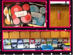 This would be a great way to display color words if you have a polka-dot theme.