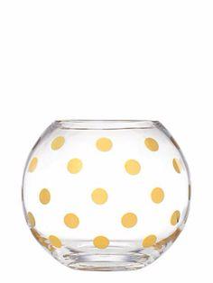 DIY Kate Spade Spotted Bowl Vase