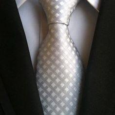 Classic Men Formal Tie Jacquard Woven Neck Ties Plaid Striped Geometric Ties for Men Business Wedding Party Formal Tie, Men Formal, Mens Wedding Ties, Red Wedding, Cravat Tie, Classic Men, Fashion Pattern, Grey Tie, Gray