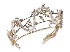 Lalique pearl and garland tiara. What? This old thing?