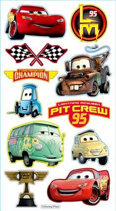 EK Success - Disney Collection - 3 Dimensional Puffy Stickers - Cars