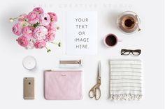 Floral Flatlay Feminine Accessories by Her Creative Studio on @creativemarket