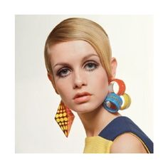 60년대 패션 아이콘, 트위기(Twiggy) ❤ liked on Polyvore