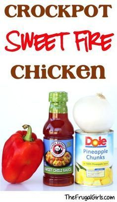 Let your tastebuds do a happy dance tonight with this Crockpot Sweet Fire Chicken Recipe! This Crockpot Dinner is the perfect balance of sweet and spice! More asian recipes also. Crockpot Dishes, Crock Pot Slow Cooker, Crock Pot Cooking, Crockpot Meals, Freezer Meals, Sweet Fire Chicken, Sweet Chili Chicken, Asian Chicken, Tso Chicken