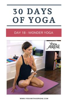 Join Adriene on Day 18 of The 30 Days of Yoga journey! Wonder Yoga practice is a sequence to for balance, opening and wonder in the unknown! Free Yoga Videos, 30 Day Yoga, Yoga With Adriene, Deep Breathing Exercises, Restorative Yoga, Yoga Poses For Beginners, Workout Challenge, Challenge Quotes, Yoga For Kids
