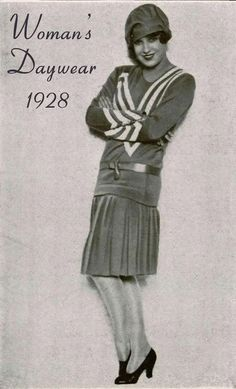 From Bonjourteaspoon blogspot: 1928 daywear. This little number could take a girl to work, shopping, out to lunch or any number of daytime activities.