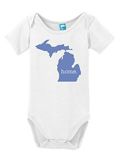 Michigan Home Onesie Funny Bodysuit Baby Romper White Small LOL Onesies