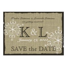 See MoreBurlap and Snowflakes Save the Date Personalized Announcementstoday price drop and special promotion. Get The best buy