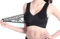 afd931a62fef4 Generic Womens Push Up Lace No Underwire Workout High Impact Sport Bra  Black Medium     Details can be found by clicking on the image.