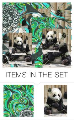 """""""Panda"""" by mlkdmr ❤ liked on Polyvore featuring art"""