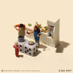 calendario de figuras en miniatura de tatsuya tanaka 7