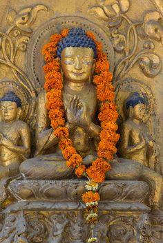 Mahabodhi Temple at Bodh Gaya, India