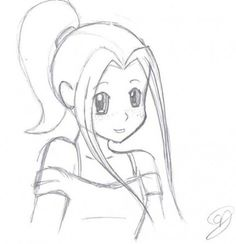 Easy drawing of a girl drawing easy drawings anime girl as well as Girl Drawing Easy, Art Drawings Sketches Simple, Pencil Art Drawings, Cool Drawings, Drawing Ideas, Drawing Step, Drawing Drawing, Easy Person Drawing, Drawing Designs