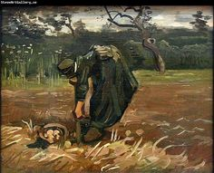 Van Gogh: Peasant Woman Digging Up Potatoes