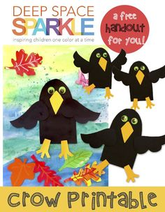 Crow Craft Template for kids