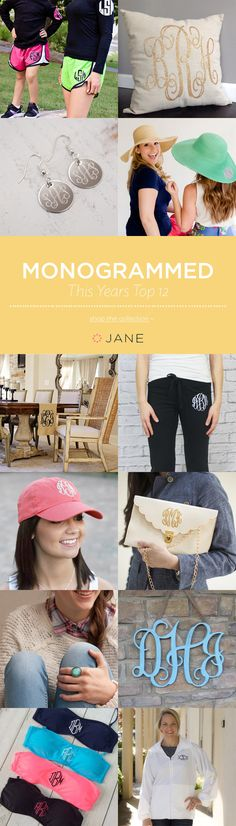 The monogrammed trend is here and ready to stay for a while. Check out Jane.com's hottest collection of monogrammed items and get ready to fall in love. From pillows and wall décor to shirts and even swimming suits. You will be looking stylish and self branded in one of our favorite monogrammed items.