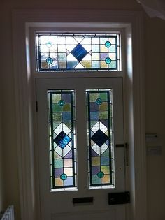 Example Of A Stained Glass North Yorkshire Caryl Hallett home decor categories. stained glass patterns for doors. we continue sharing some ideas about stained glass patterns for doors design. click the images for more details Stained Glass Door, Glass Panel Door, Glass Front Door, Stained Glass Designs, Stained Glass Panels, Stained Glass Projects, Stained Glass Patterns, Leaded Glass, Mosaic Glass