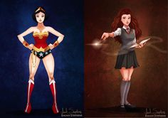 Artist Karen Graw& designed what Disney characters would look . Modern Disney Characters, Fictional Characters, Latest Celebrity News, Cosmopolitan, Real Life, Wonder Woman, Entertaining, Superhero, Film