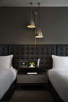 Hotel Zetta in San Francisco, California via @. HomeDSGN . Contemporary style is so cozy and modern. You can use the the newest trends, like patterned pillows and cooper objects. See more contemporary deco inspirations as well as more home design ideas at http://www.homedesignideas.eu/ #minimalistic #interiordesign