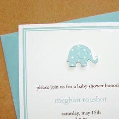 Baby Boy shower invitation  pool polka dot by graciegirlnotes,