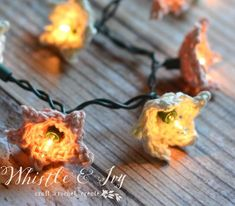 Crochet Star Flower Lights - Whistle and Ivy
