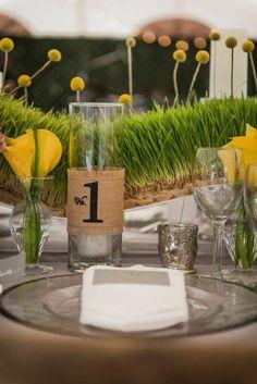 wedding table number idea; photo: Ryan Joseph