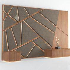 Headboard No. Wooden Wall Design, Tv Wall Design, Wooden Walls, Bed Headboard Design, Bedroom Bed Design, Cladding Design, Wall Cladding, Upholstered Wall Panels, Tv Wall Decor