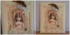 cuadro con de foto antigua decorado