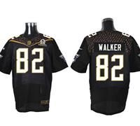 Nike Tennessee Titans #82 Delanie Walker Black 2016 Pro Bowl Men's Stitched NFL Elite Jersey