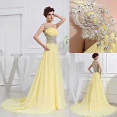 Yellow long prom dress/One-shoulder sleeveless floor-length bridesmaid dress Evening/wedding Party/Homecoming/cocktail //Formal dress on Etsy, $159.00