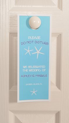 Starfish Custom Door Hangers - Wedding Favors | LabelsRus