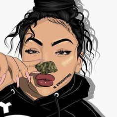 cute black girl drawings - black girl with afro drawing Dope Cartoon Art, Black Girl Cartoon, Cartoon Kunst, Swag Cartoon, Black Love Art, Black Girl Art, Art Girl, Arte Dope, Dope Art