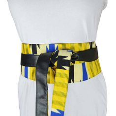 African print ankara colorful belt, reversible obi bel, mother s day, gift  for her, corset, yellow, arrow, black faux leather, montreal bfd05c67bcc