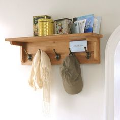 Montague Oak 5-Hook Coat Rack (M518) with Free Delivery   The Cotswold Company (H)20 x (W)70 x (D)20cm £85