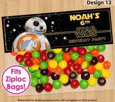 BB8 Bag Topper, PRINTABLE BB8 Party Topper, Star Wars Treat Bag Topper, Force Awakens Birthday Party Favors, Star Wars Favor Bags Toppers