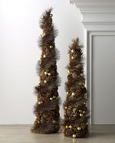 Pine Cone Christmas Trees from Neiman Marcus